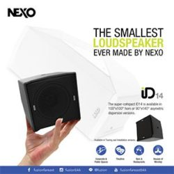 THE SMALLEST LOUDSPEAKER EVER MADE BY NEXO