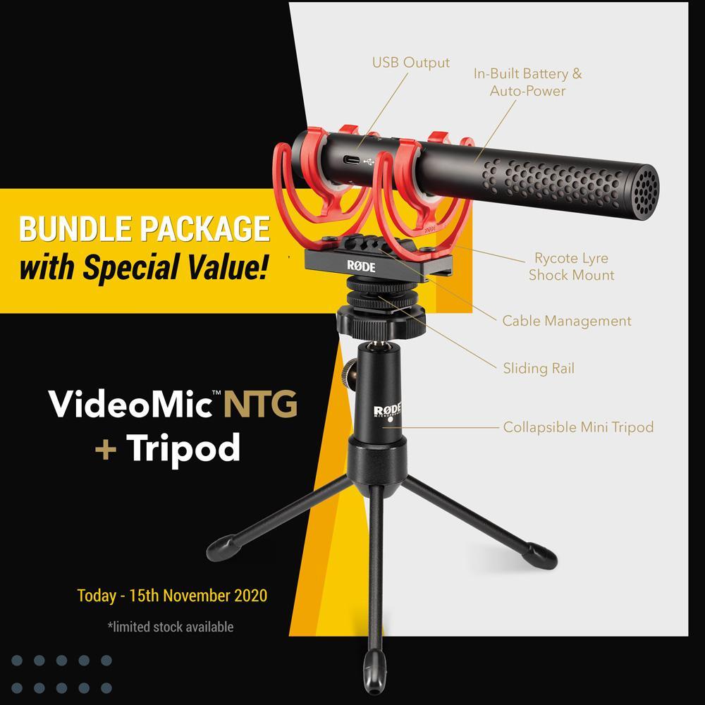 Rode VideoMic NTG + Tripod